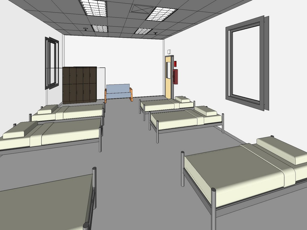 Medical_on_call_dormitory_3d