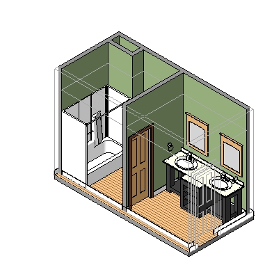 Single-family_bathroom_double-sink_smartbim-3d